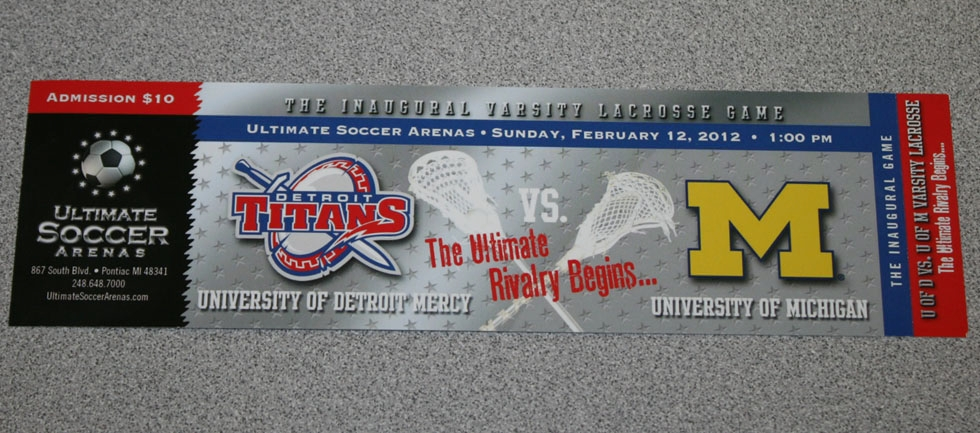 University of Detroit Mercy Titans Michigan Wolverines lacrosse ticket