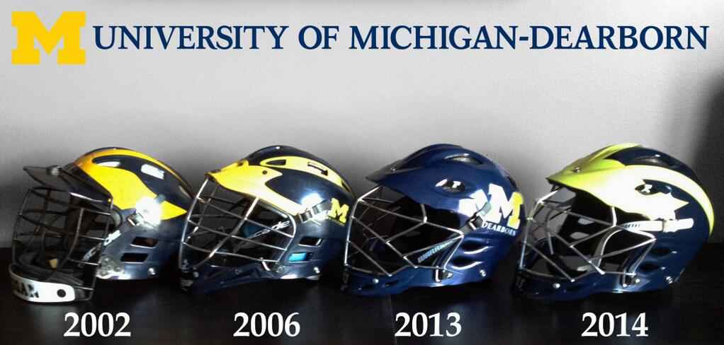 University of Michigan-Dearborn lacrosse helmet history